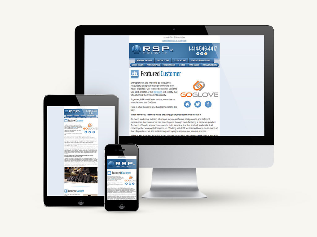 RSP Inc. Email Template